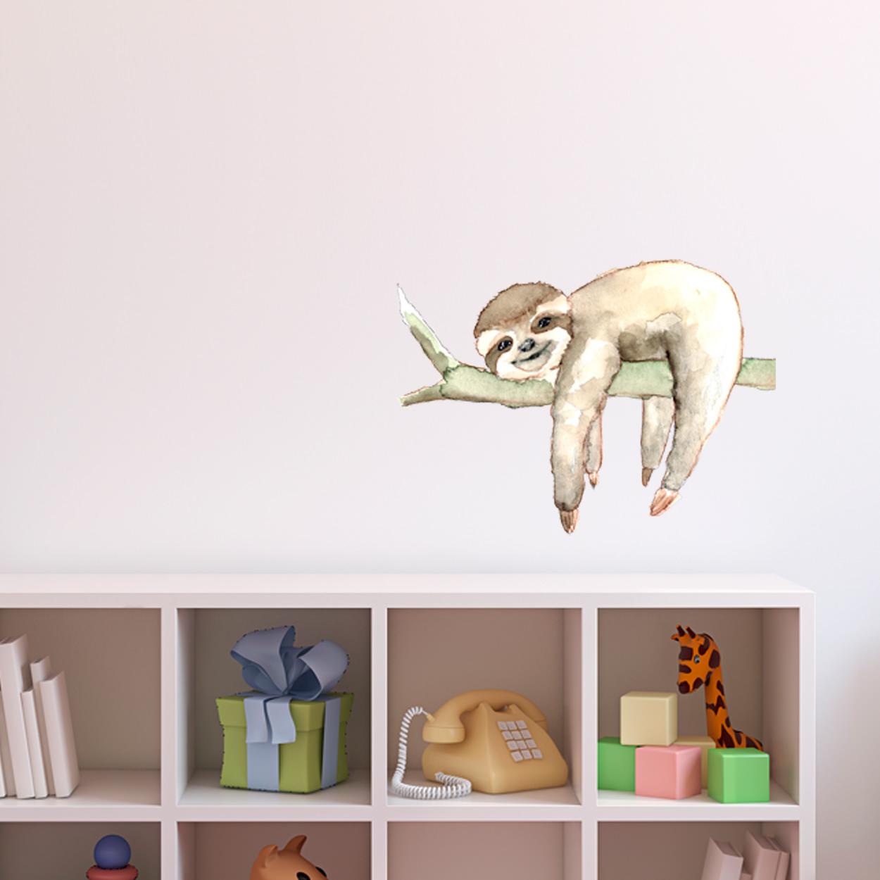 Wandtattoo Aufkleber Wandsticker Faultier sloth be lazy