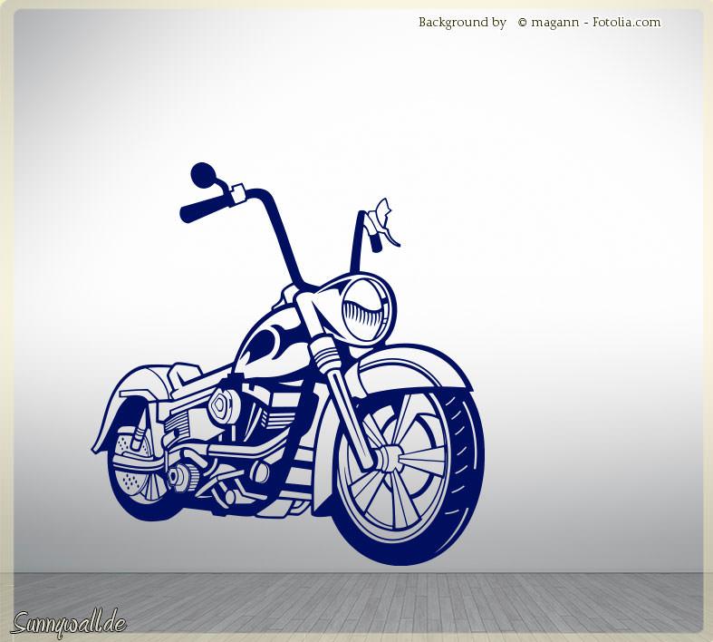 Wandtattoo motorrad mofa moped sunnywall online shop - Motorrad wandtattoo ...