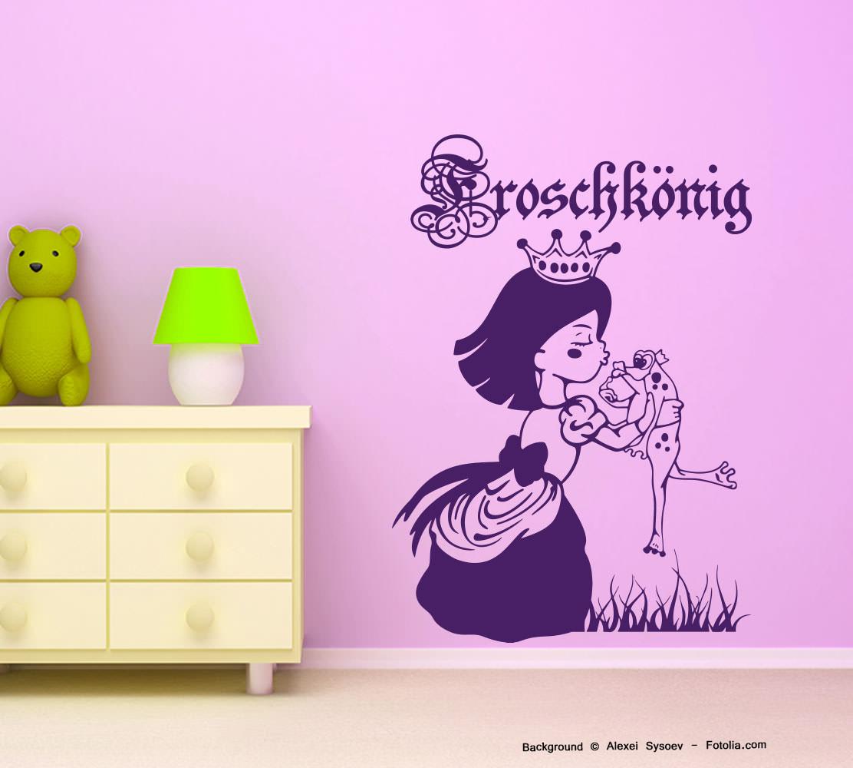 wandtattoo wandaufkleber froschk nig prinzessin m rchen. Black Bedroom Furniture Sets. Home Design Ideas