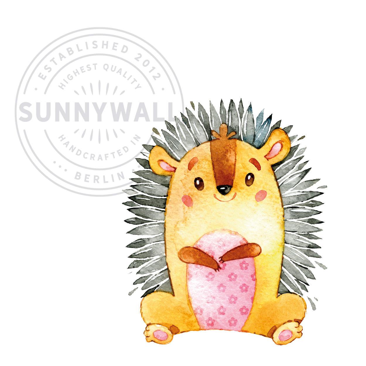 Wandtattoo Aufkleber Wandsticker Igel hedgehog