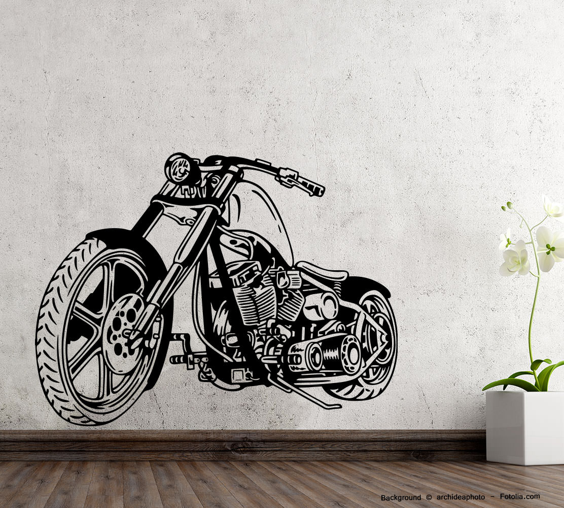 wandtattoo shop wandaufkleber motorrad motorcycle. Black Bedroom Furniture Sets. Home Design Ideas