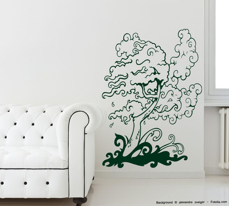 Wandaufkleber Baum Wind Sturm Tree Sunnywall Online Shop