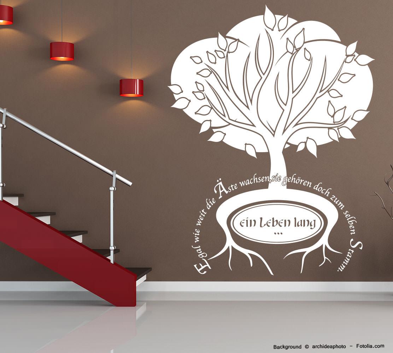 Wandaufkleber Spruch Baum Familie Stamm Sunnywall Online Shop