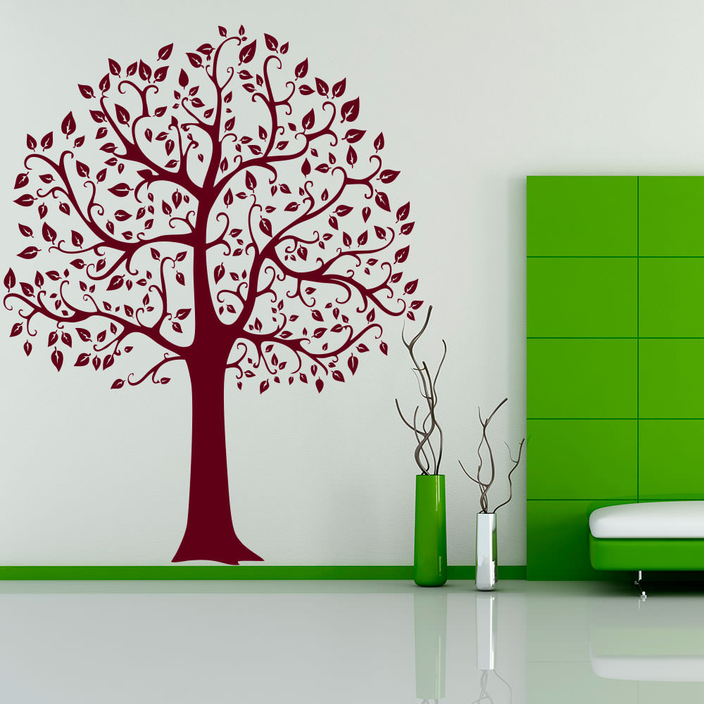 wandtattoo baum linde tree laub blaetter natur xxl sunnywall online shop. Black Bedroom Furniture Sets. Home Design Ideas