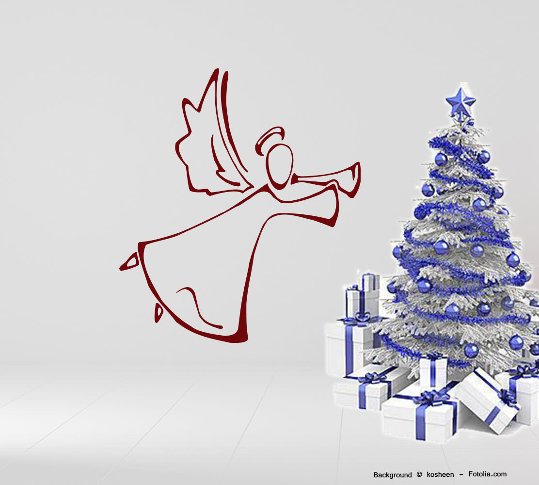 wandtattoo wandaufkleber weihnachtsengel christmas angel. Black Bedroom Furniture Sets. Home Design Ideas