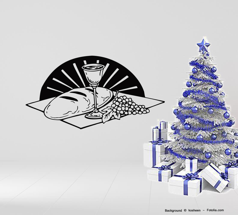 Wandtatoo Weihnachten christmas Wandaufkleber Abendmahl | Sunnywall ...