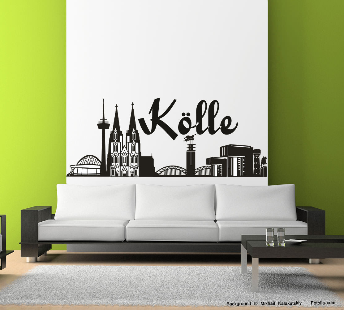 wandtattoo skyline k lle reuniecollegenoetsele. Black Bedroom Furniture Sets. Home Design Ideas