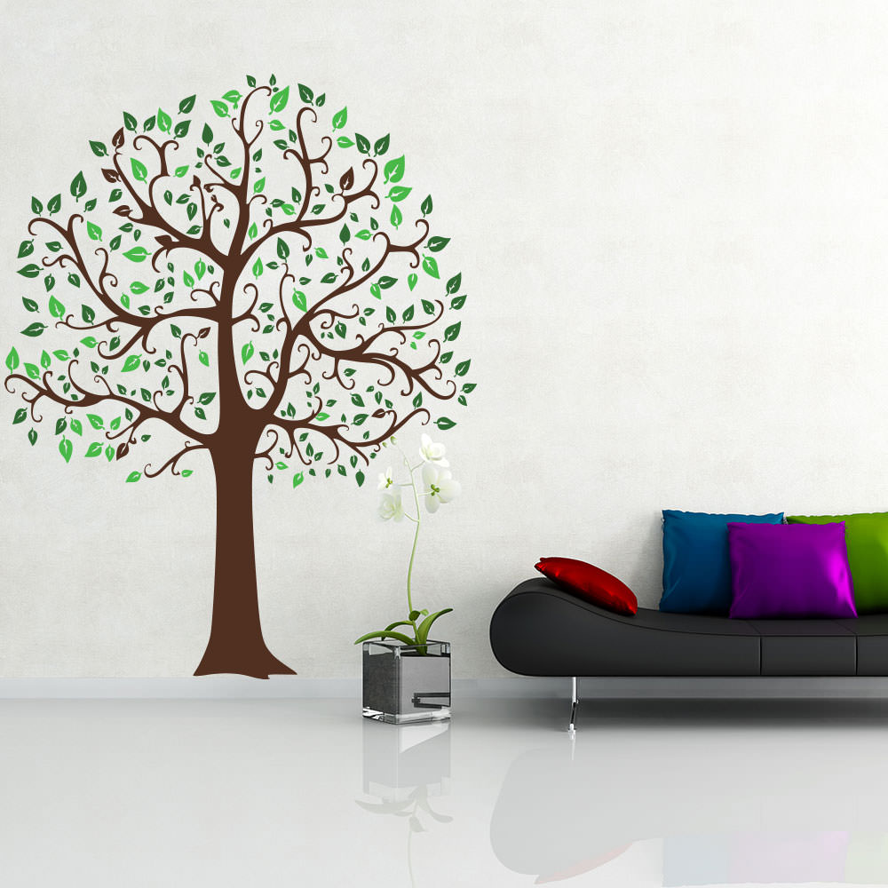 wandtattoo baum linde tree laub blaetter natur bunt. Black Bedroom Furniture Sets. Home Design Ideas
