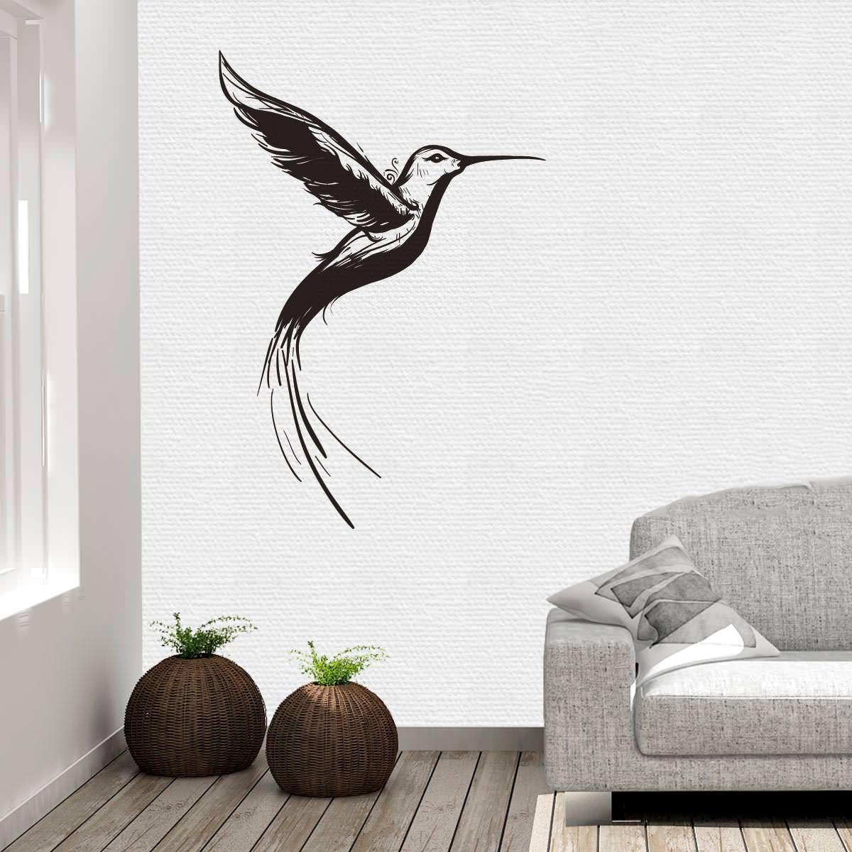 Wandtattoo kolibri vogel bird wandaufkleber wandfolie wanddekoration wandmotiv - Vogel wandtattoo ...