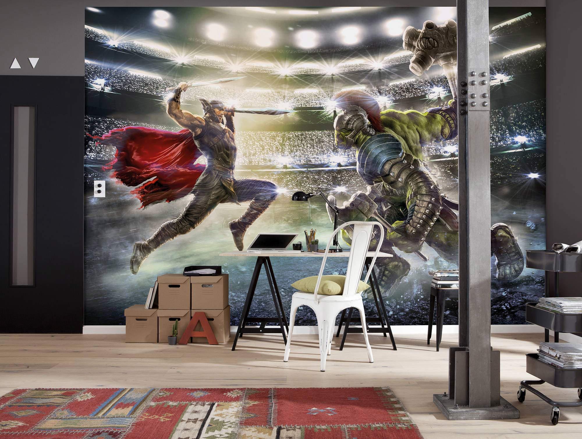 fototapete marvel studios thor and hulk sunnywall online shop. Black Bedroom Furniture Sets. Home Design Ideas