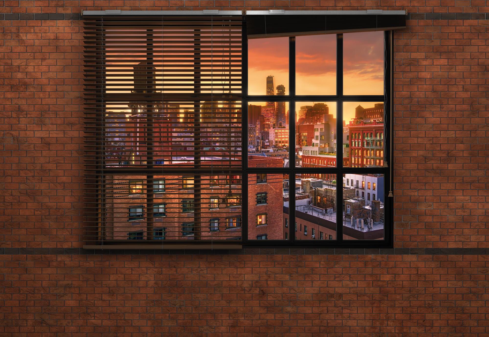 fototapete brooklyn brick sunnywall online shop. Black Bedroom Furniture Sets. Home Design Ideas