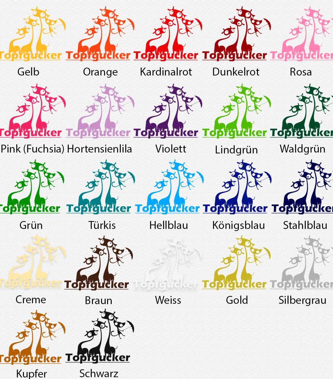804 Wandtattoo Wandaufkleber Topfgucker Kueche Giraffe Katze Cat