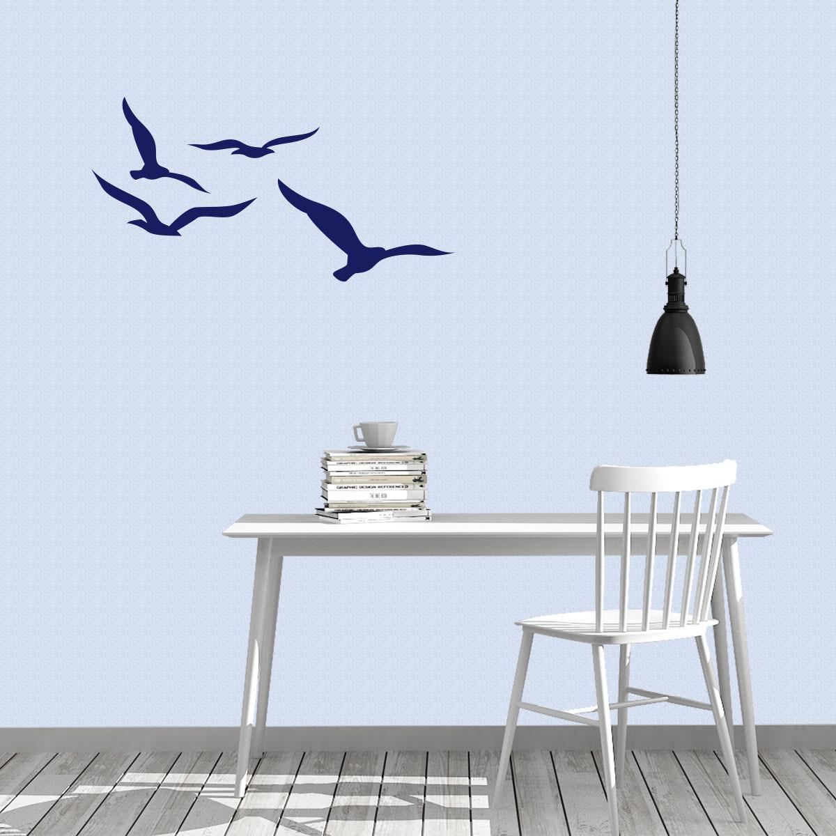 Wandtattoo maritim vogel m wen wandaufkleber wanddekoration wandmotiv sunnywall online shop - Wandtattoo maritim ...