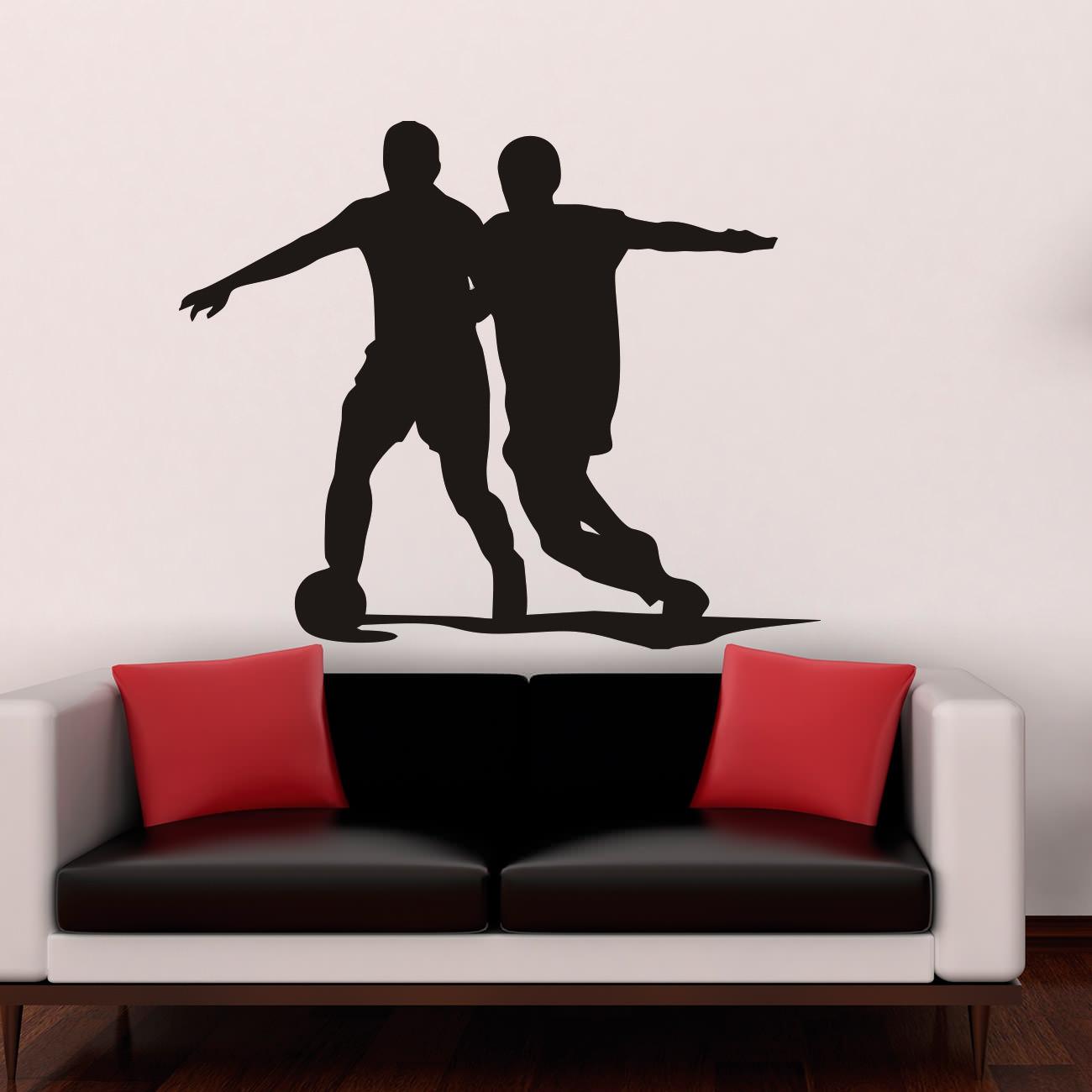 Außergewöhnlich Wandtattoo Fußball Dekoration Von Wandaufkleber_fußballspieler_sport_hobby_verein_wandsticker