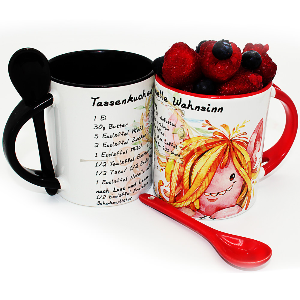 2er Set Tassenkuchen Loffeltasse Inklusive Mikrowellenkuchen Rezept