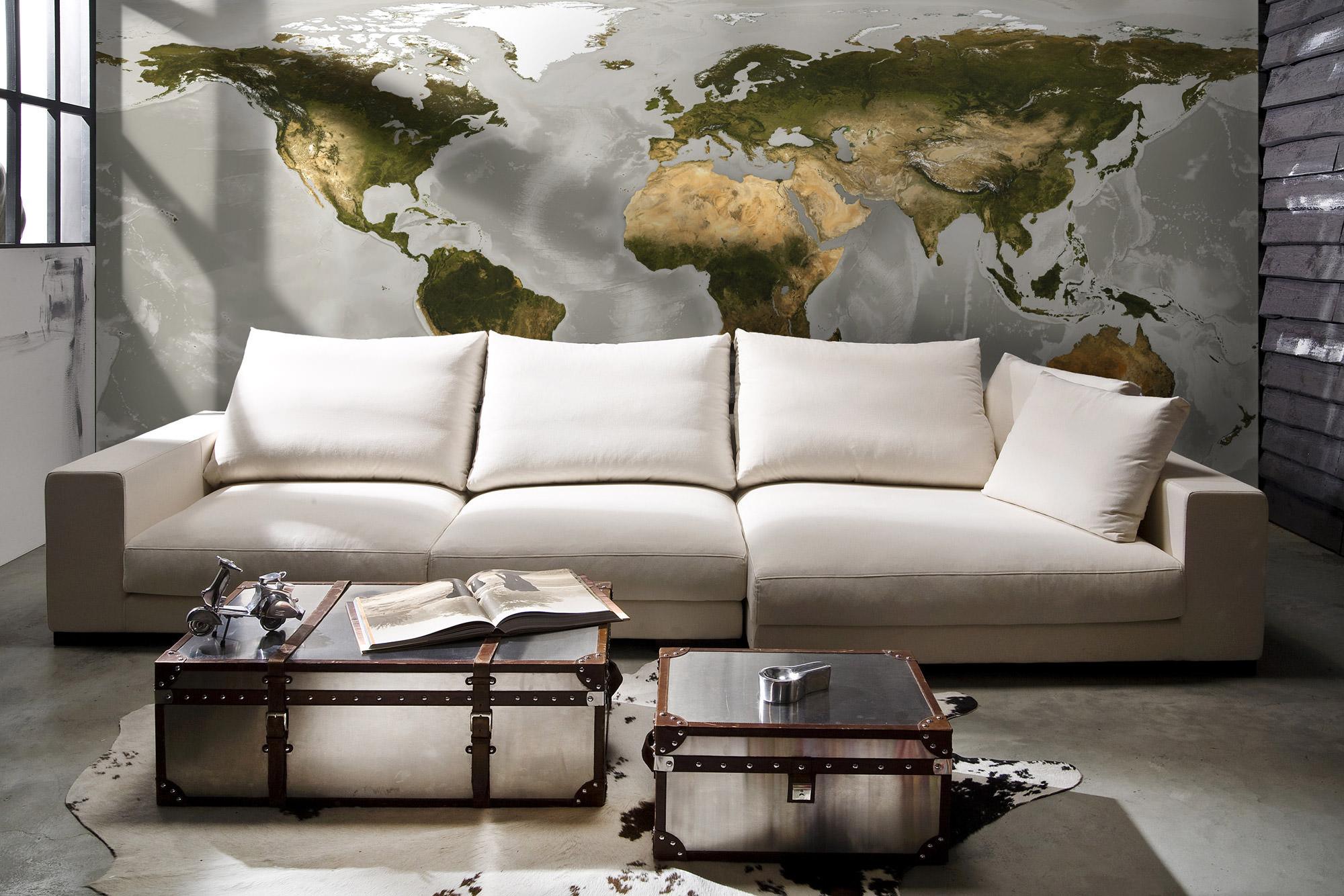 fototapete vlies world weltkarte xxl sunnywall online shop. Black Bedroom Furniture Sets. Home Design Ideas