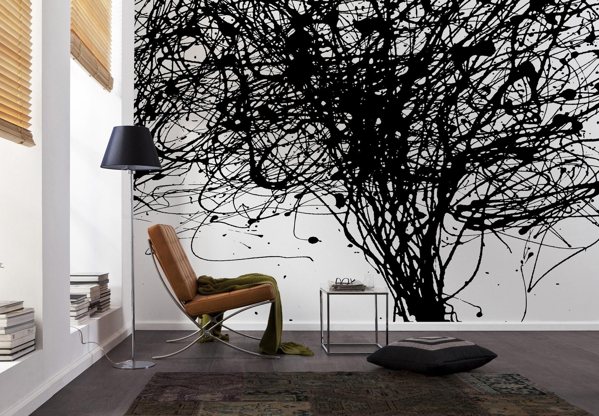 fototapete vlies curls baum tree sunnywall online shop. Black Bedroom Furniture Sets. Home Design Ideas