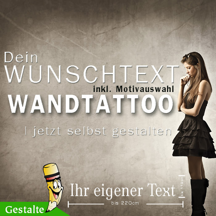 wandtattoo selber gestalten wunschtext motiv. Black Bedroom Furniture Sets. Home Design Ideas