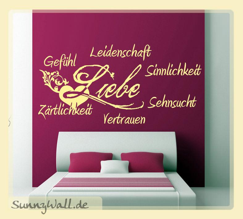 Wandtattoo Schlafzimmer Liebe Wandaufkleber Zärtlichkeit Gefühle Sehnsucht