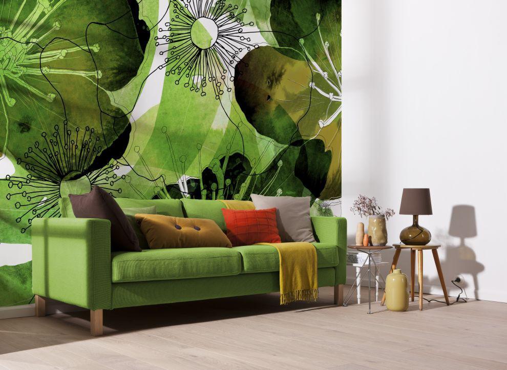 fototapete vlies aquarell flower bl ten sunnywall online shop. Black Bedroom Furniture Sets. Home Design Ideas