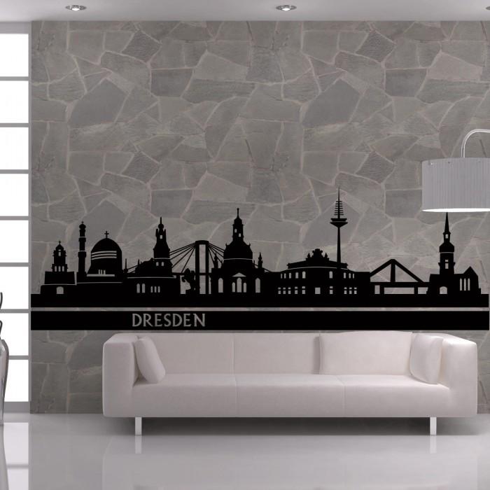 skyline wandtattoo dresden sunnywall online shop. Black Bedroom Furniture Sets. Home Design Ideas