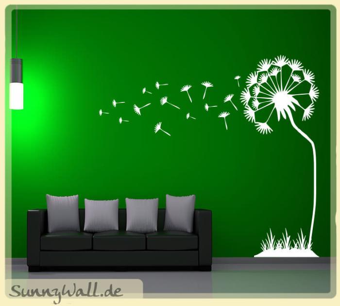 wandtattoo pusteblume im wind vers2 sunnywall online shop. Black Bedroom Furniture Sets. Home Design Ideas
