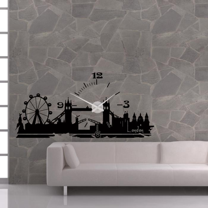 Wandtattoo_Uhr_Skyline_London