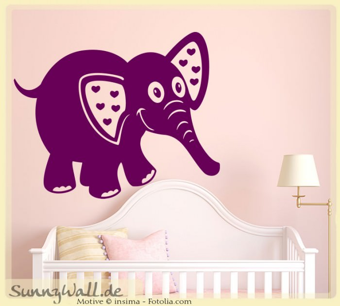 wandtattoo wandaufkleber elefant elephant kinderwelt. Black Bedroom Furniture Sets. Home Design Ideas