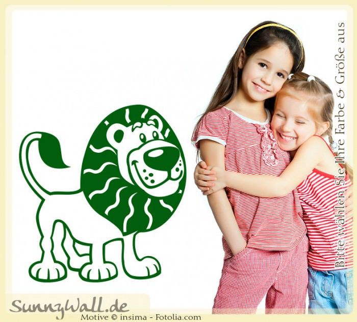 Wandtattoo wandaufkleber aufkleber l we lion kinder ebay for Wandtattoo lowe