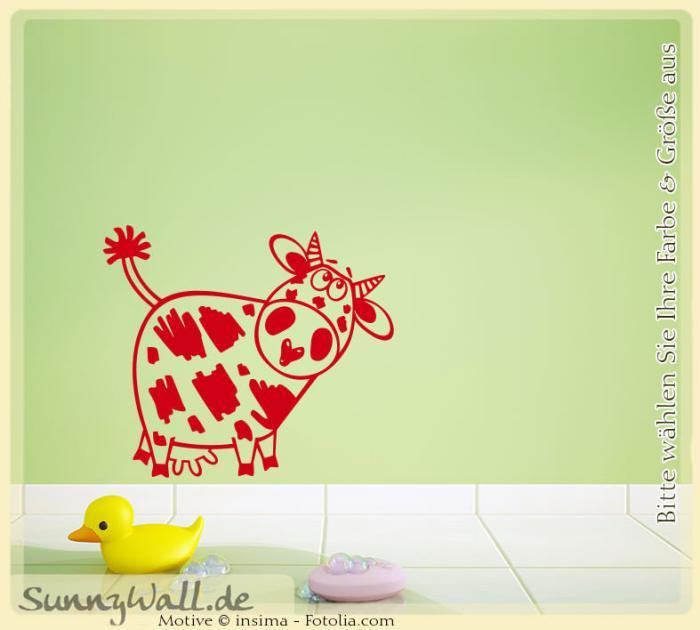 wandtattoo kuh kopf oben bauernhof sunnywall online shop. Black Bedroom Furniture Sets. Home Design Ideas