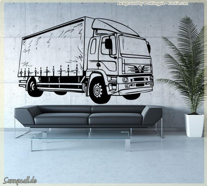 wandtattoo lkw lastwagen trailer f hrerhaus i 500 ebay. Black Bedroom Furniture Sets. Home Design Ideas