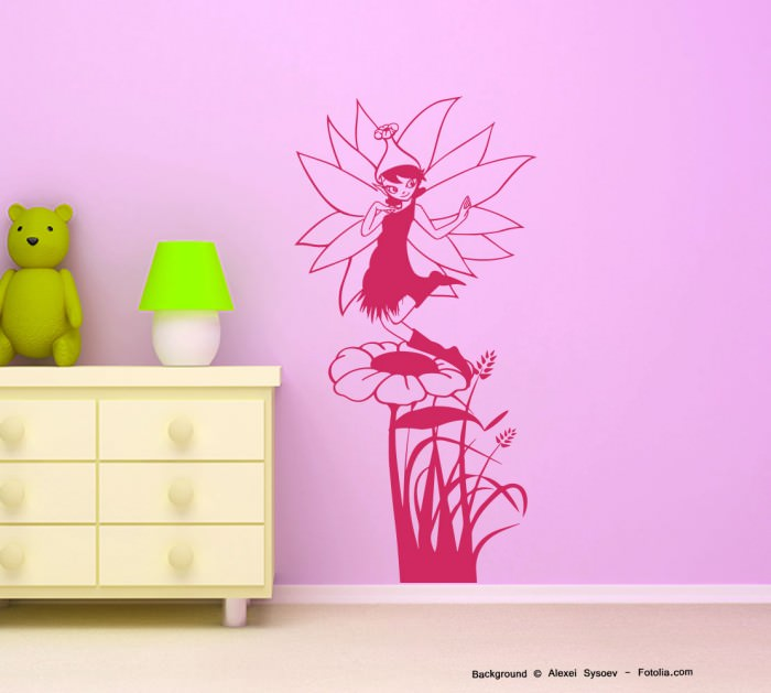 wandtattoo fee blume elfe fairy sunnywall online shop. Black Bedroom Furniture Sets. Home Design Ideas