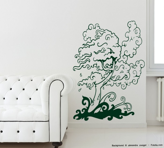 wandtattoo tree baum im wind 697 ebay. Black Bedroom Furniture Sets. Home Design Ideas
