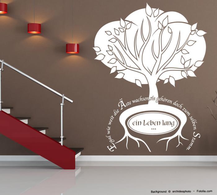 wandaufkleber spruch baum familie stamm sunnywall online. Black Bedroom Furniture Sets. Home Design Ideas