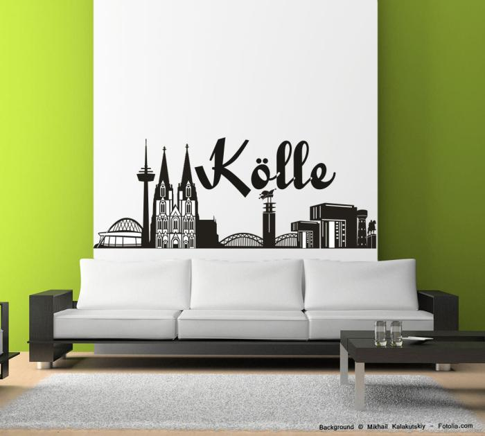 wandtattoo wandaufkleber k lle k ln skyline deutschland. Black Bedroom Furniture Sets. Home Design Ideas