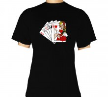 T-Shirt - Casino Kartenspiel SWC Collection Schwarz II